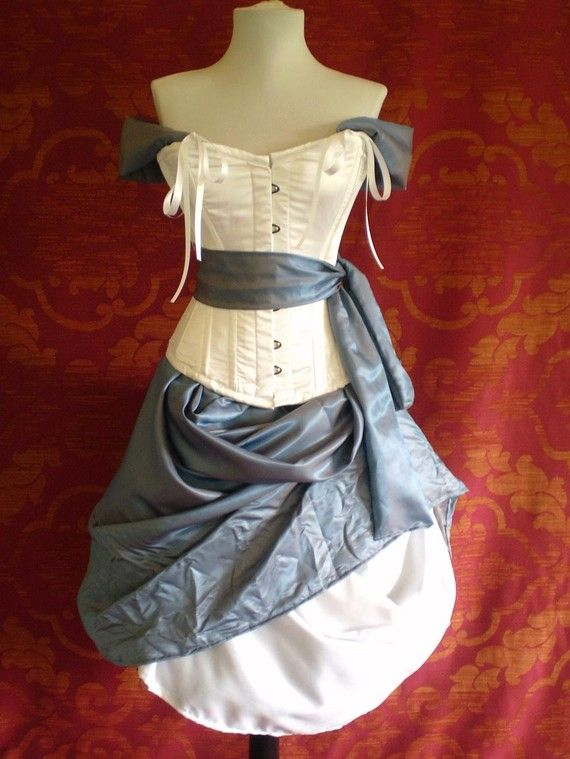 Alice In Wonderland Corset Costume OufitWhole by AliceAndWillow, $369.00 (Ouch!!!)