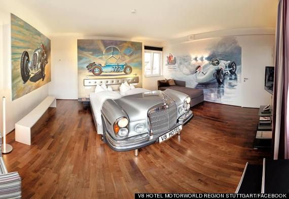 Sleep in a vintage Mercedes Benz | A Car-Themed Hotel That Will Delight Your Inner 9-Year-Old