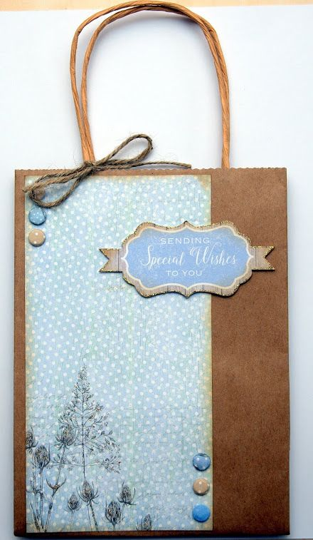 Gift Bag made from using Craftwork cards Potting shed II papers, topper and Candi.