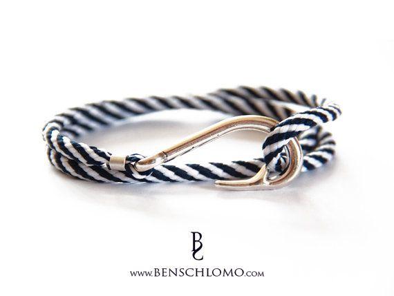 Riem haak haak armband met vis haak Armbandt blauwe door BenSchlomo                                                                                                                                                     Más