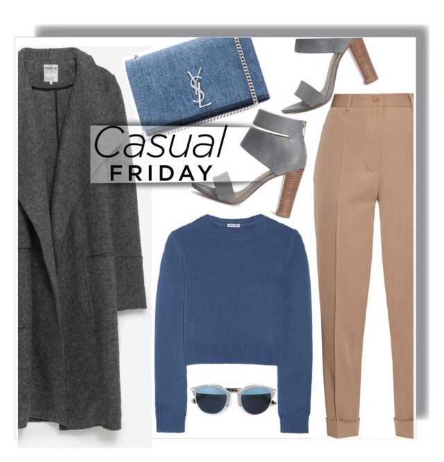 """Casual friday - OOTD"" by anne-mclayne ❤ liked on Polyvore featuring Bottega Veneta, Zara, Miu Miu, Yves Saint Laurent, Splendid, Christian Dior, casual and ootd"