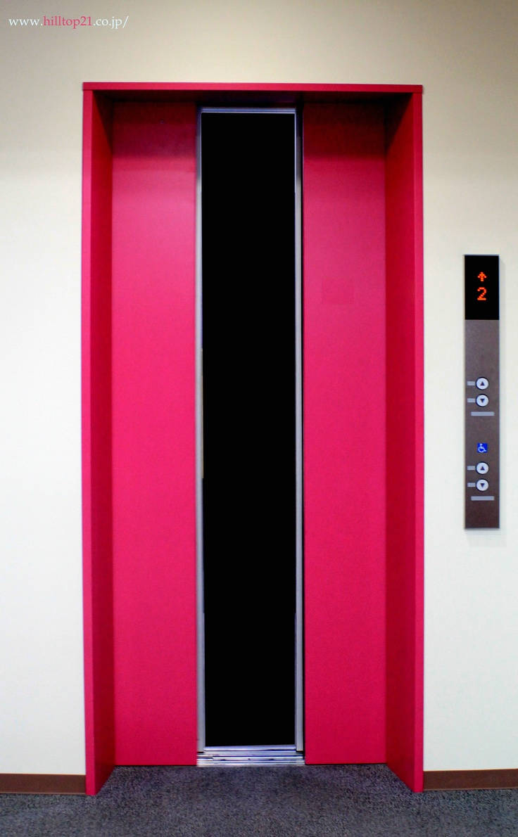 Pink elevator    http://www.hilltop21.co.jp/ #pink #interior #furniture ピンクのエレベーター!!