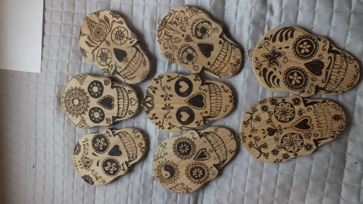 Mix up of designs from off the net on pine recycled from the Napier hospital pyrography by Corinna