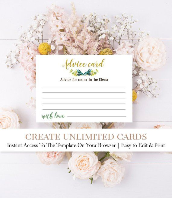 Greenery Advice For Parents Cards Greenery Baby Shower Advice Etsy Baby Shower Advice Cards Baby Shower Advice Parents Cards