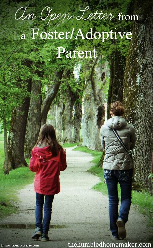 An Open Letter from a Foster Adoptive Parent - The Humbled Homemaker