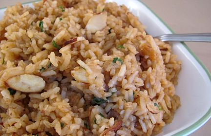 Asian Rice Pilaf. Gluten Free and Delicious. Recipe at IrresistiblyGlutenFree.com.  Simple gluten free recipes your whole family will enjoy.