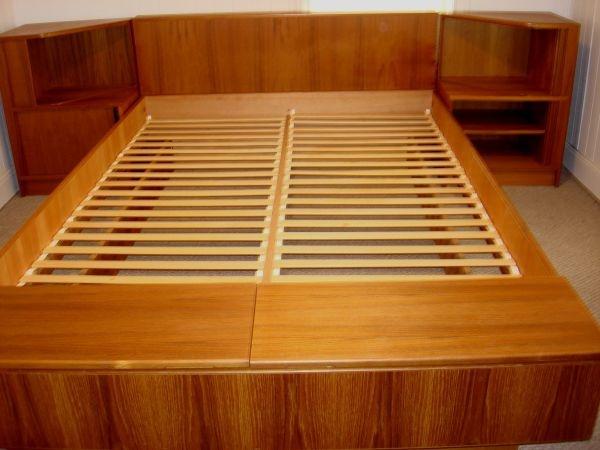Hundevad Danish Modern Teakwood Queen Platform Bed Tambour Nightstands 1200 Projects To Try Pinterest And
