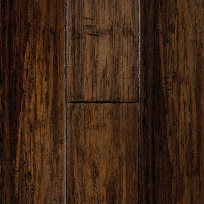 "Our new floors! 1/2"" x 5"" Antique Hazel Click Strand Bamboo - Morning Star Click 