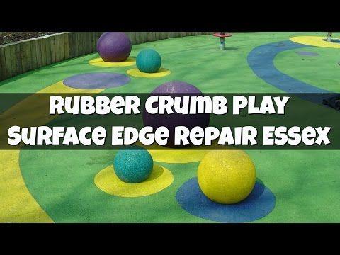 Rubber Crumb Play Surface Edge Repair #playarea #surfacing
