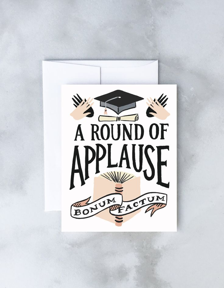 Round of Applause Graduation Greeting Card by IdlewildCo on Etsy https://www.etsy.com/listing/177419551/round-of-applause-graduation-greeting