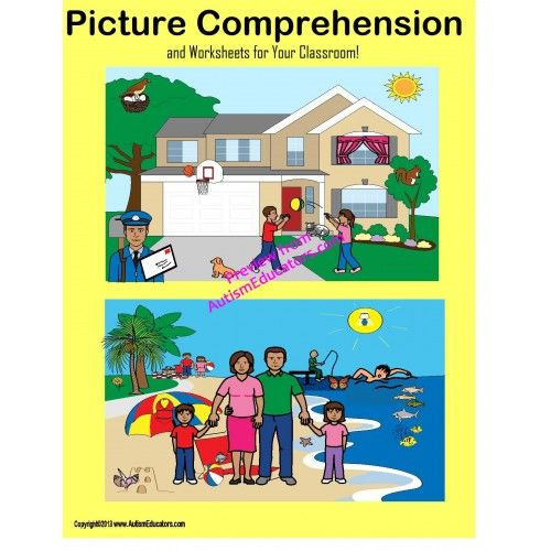 FREE Autism Picture Comprehension and Worksheets. Perfect for independent practice or one-on-one instruction.