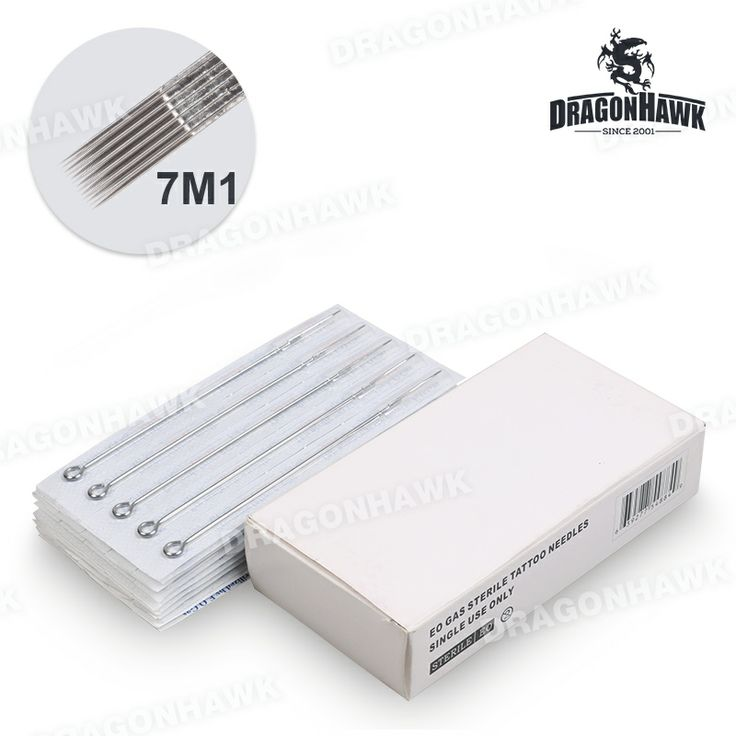50 pcs disposable sterile tattoo needles weaved magnum 7m1