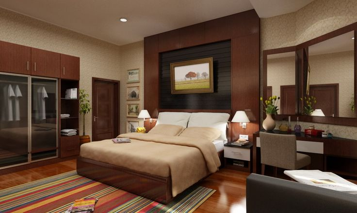 Bedroom. Modern Rustic Bedroom Design With Comfortable Low Profile Bed And Cool Headboard With Contemporary Wall Picture