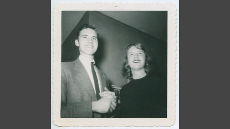 Sylvia with boyfriend Myron Lotz, the inspiration for her poem 'Mad Girl's Love Song'. Copyright courtesy Lilly Library, Indiana.