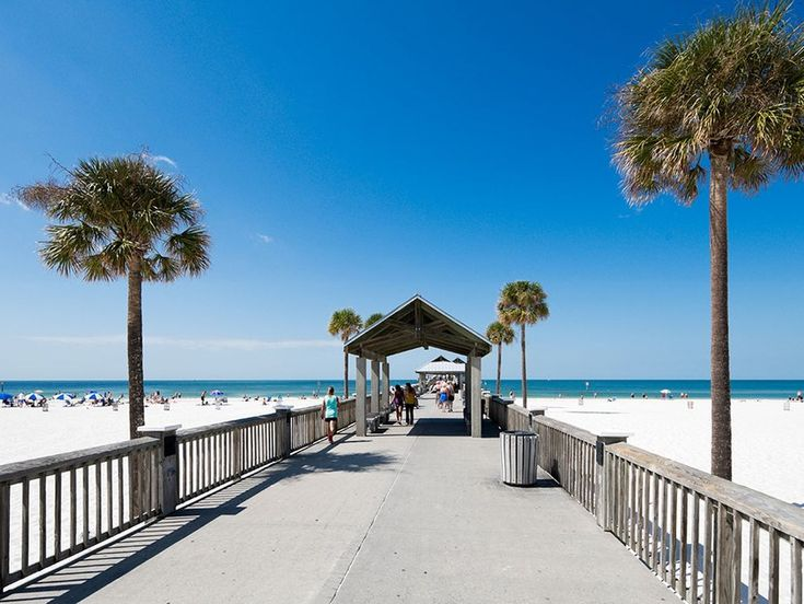 Clearwater Beach, which is two and a half miles long, is consistently ranked one of the best in Florida.