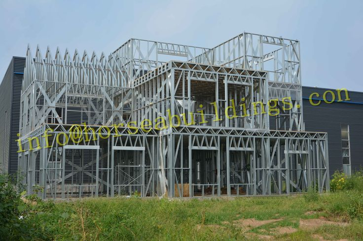 3 story steel construction office building is completed soon, we build it in our factory, welcome you come to visit our steel structure building