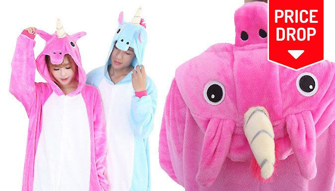Buy: Unisex Unicorn Onesie - 2 Colours, 4 Sizes for just: £12.99 Who says unicorns aren't real? Prove them wrong with this Unisex Unicorn Onesie      Choose from blue or pink designs      Available in sizes S (UK 8), M (UK 10), L (UK 12) and XL (UK 14)      Hood features ears, eyes, a nose - and of course, a horn.      A great gift for any fantasy lover      Perfect for sleepovers or just...