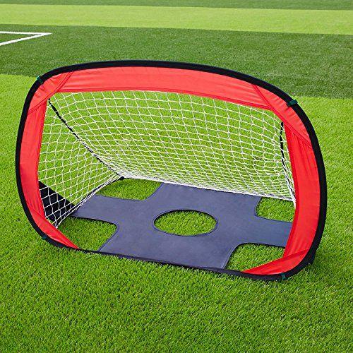 Folding Soccer Goal Portable Pop Up Soccer Goal & Football Training Net Kicking Door for Kids Playground Training -3.3ft x 2.4 ft