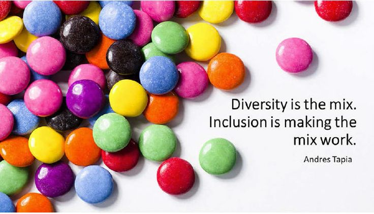 Diversity is the mix. Inclusion is making the mix work ...