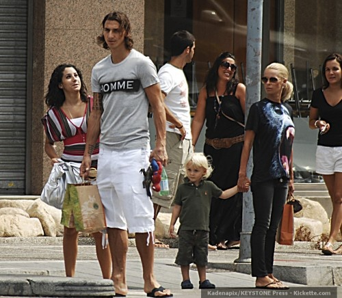 Zlatan Ibrahimovic with wife, Helena, and their son, Max, back in 2009.