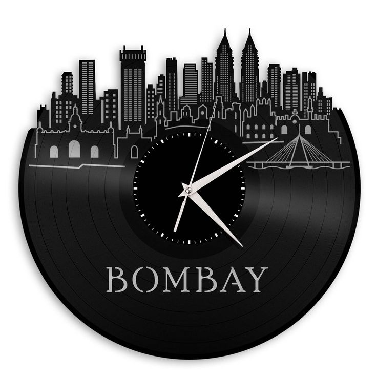 164 best City Skyline Wall Clocks images on Pinterest Vinyl
