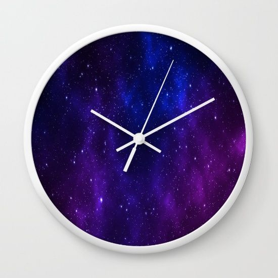 Space Ode Wall Clock  by Scar Design #space #wallclock #clock #spaceclock #scificlock  #kidsroom #scifiroom #nerd #geek #stars #universe #spacegifts #galaxy #astronomergifts #astronomer #astrophysicist  #homedecor #bedroom #buyhomegifts #homegifts #society6