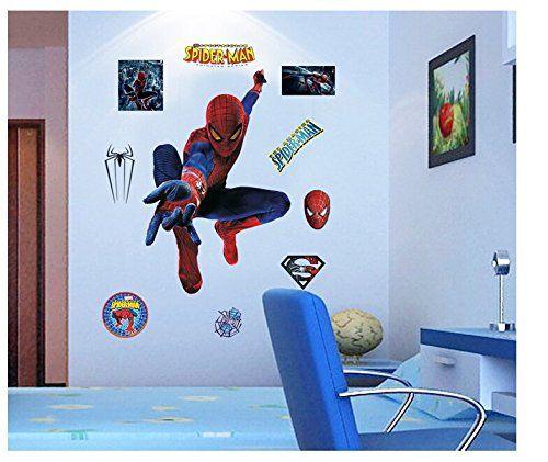 RY Spiderman DIY Removable Vinyl Art wall sticker decal home decor living room childrens bedroom @ niftywarehouse.com