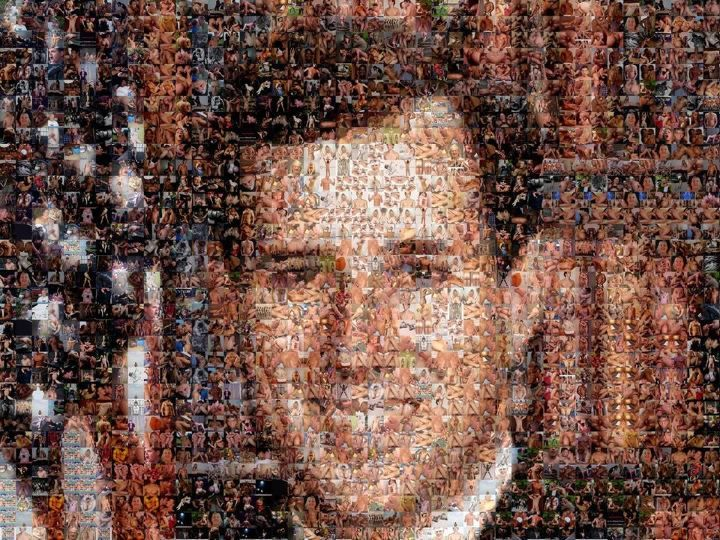 A portrait of Rick Santorum made entirely out of gay porn LOL