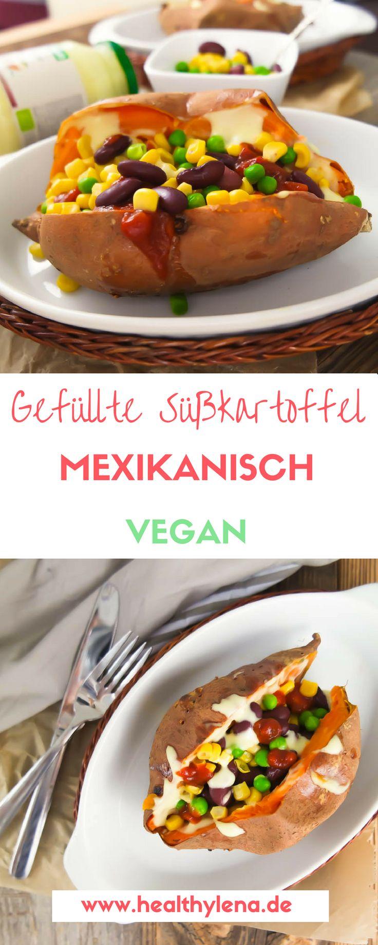 Mexikanisch gefüllte Süßkartoffel - das Streetfood Rezept: vegan, lecker, glutenfrei & einfach. Perfekt zum Grillen oder für das Picknick!