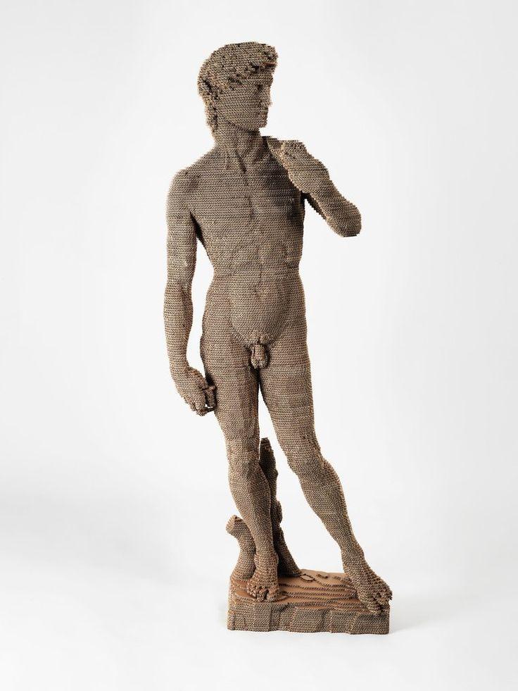 Statua In Cartone Riciclato David Di Michelangelo Stampa 3D Maxi NextMaterials