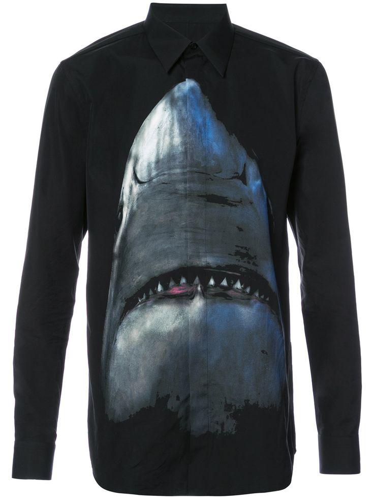 Givenchy Camisa com estampa de tubarão