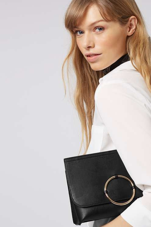 Circle Trim Clutch - Clothing- Topshop