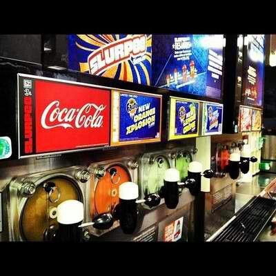 Slurpee flavor machine