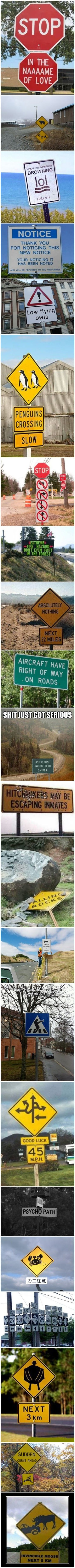 Insanely Funny Road Sign Collection