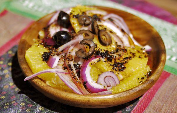 Orange and Onion Salad Recipe  spicetrekkers.com