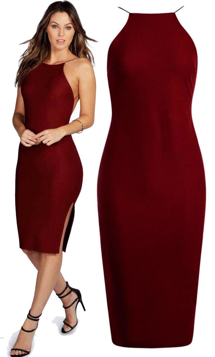 Cool Awesome New Boohoo Night Lydia Crepe Low Back Midi Bodycon Backless Dress UK 8 Berry Red 2017/2018 Check more at http://fashion-look.top/gallery/awesome-new-boohoo-night-lydia-crepe-low-back-midi-bodycon-backless-dress-uk-8-berry-red-20172018/