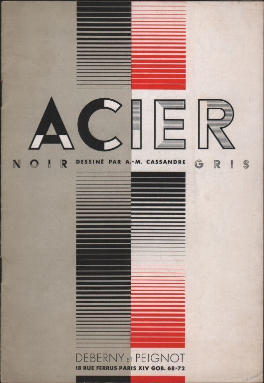 Cassandre, Acier, (1931) — signes