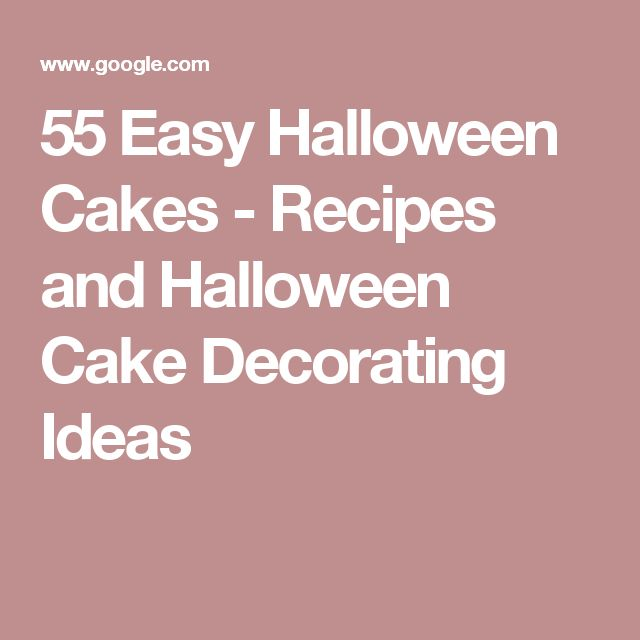 55 Easy Halloween Cakes - Recipes and Halloween Cake Decorating Ideas