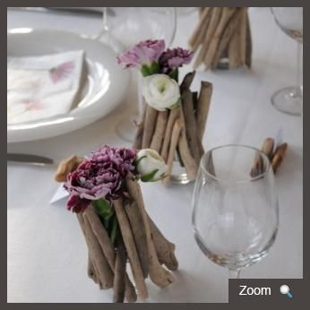 decoration de table marine bois flotte