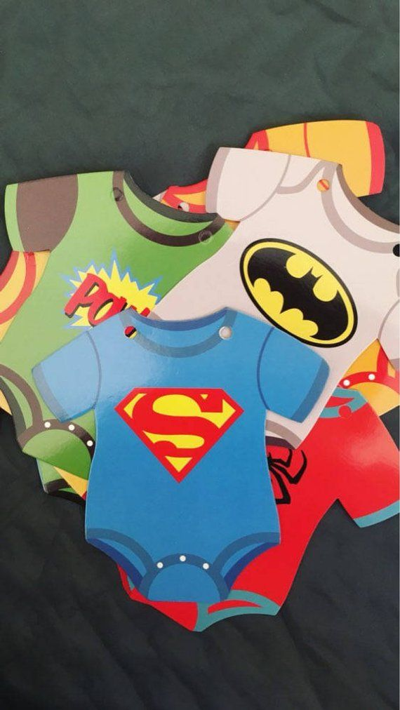 superhero baby shower banner  comic book theme bunting