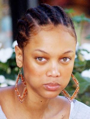 young Tyra Banks without makeup