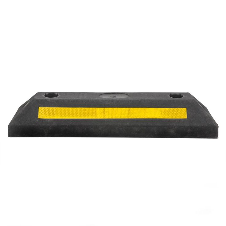 TowSmart Reflective Rubber Parking Curb (TowSmart Rubber Parking Curb), Black