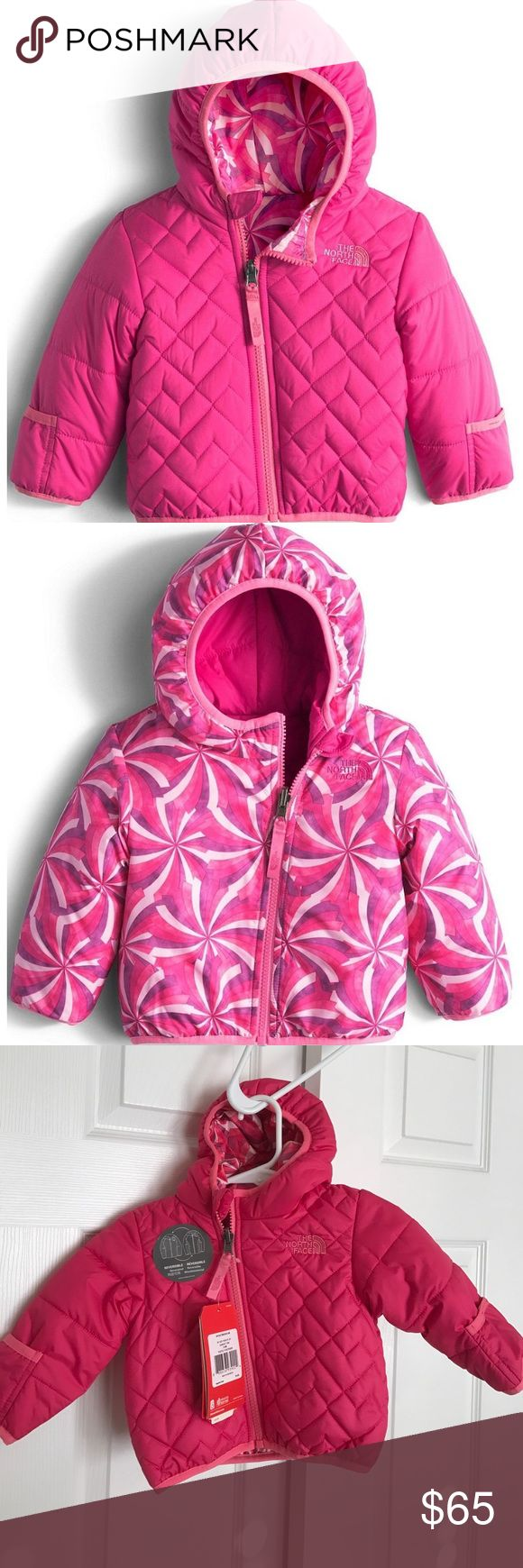 Baby Girl - 3-6 Months North Face Coat BNWT - stock photos are closer to actual color - fully reversible The North Face Jackets & Coats Puffers