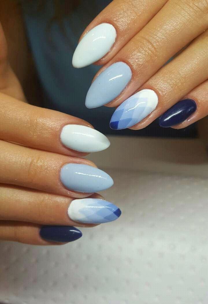 Geometric ombre manicure By: https://facebook.com/BeautyCornerbyAnn/