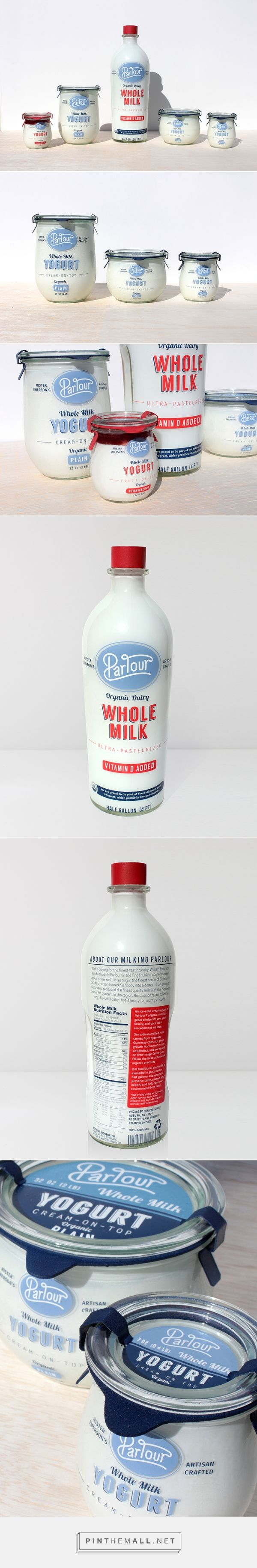 Parlour dairy products by Alex Kinal. Pin curated by #SFields99 #packaging #design