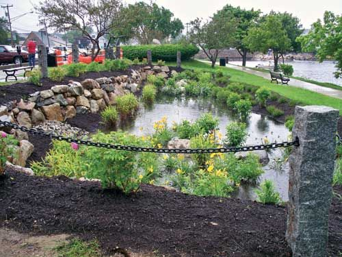 Infiltration basin are ppp rain garden basin for Stormwater pond design