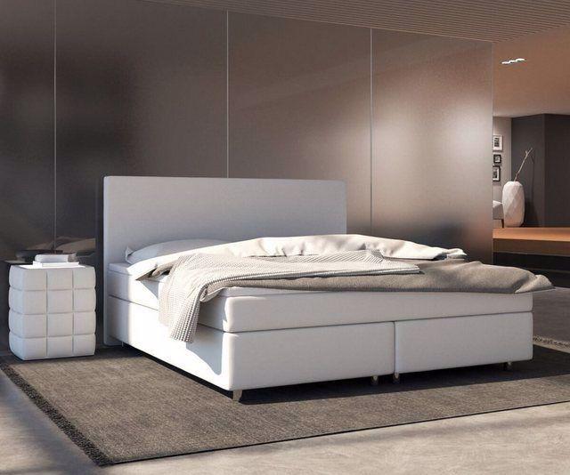 Bett Cloud Matratze Und Topper Federkern Boxspringbett In 2020 Leather Bed Bed Sofa Design