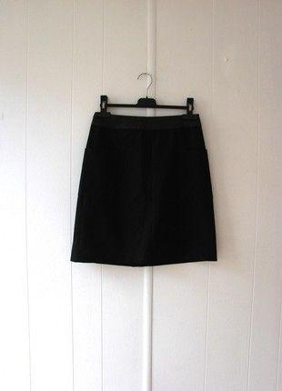 spódnica czarna z #kieszeniami #Reserved skórkowy pas