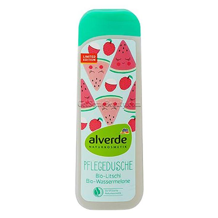 ALVERDE Natural Cosmetics Shower Gel Organic Lychee & Watermelon 250 ml | Get Some Beauty