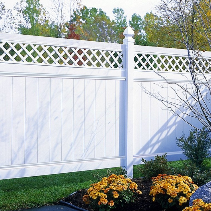i like the white pvc fences with the lattice on top